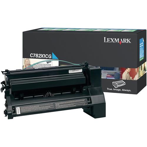 Original Lexmark C782X1CG Return Program Extra High-Yield Toner Cartridge  Cyan
