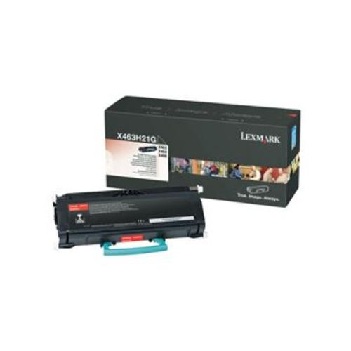 Original Lexmark Black Toner Cartridge  X463H21G, High Yield