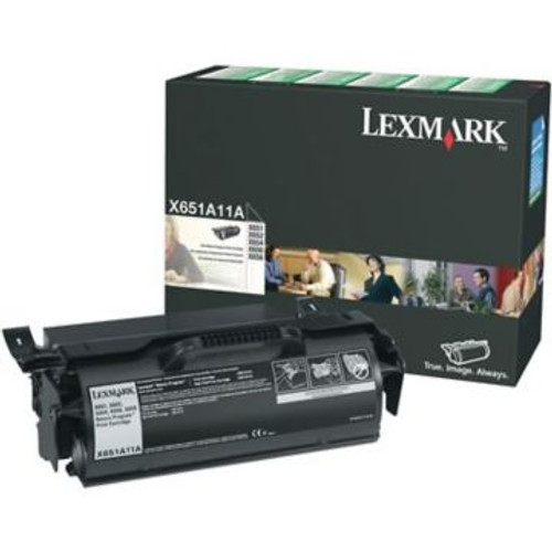 Original Lexmark X651A11A Return Program Laser Toner Cartridge  Black