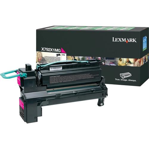 Original Lexmark X792 Return Program Extra High-Yield Laser Toner Cartridge  Magenta