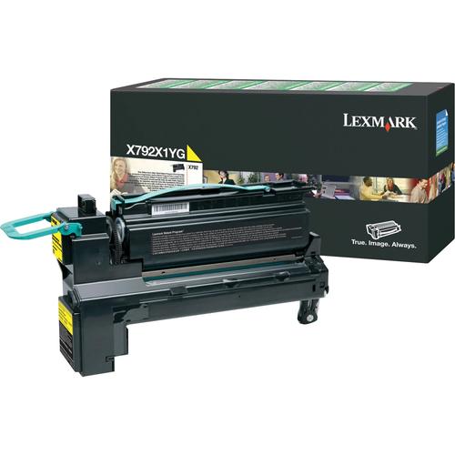 Original Lexmark X792 Return Program Extra High-Yield Laser Toner Cartridge  Yellow