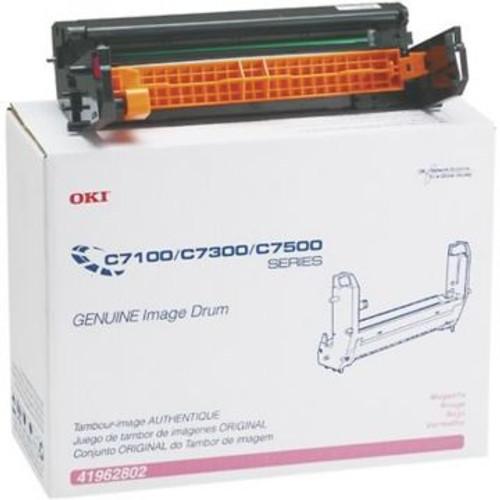 Original Okidata 41962802 Image Drum for C7100, C7300, C7500 Printers  Magenta