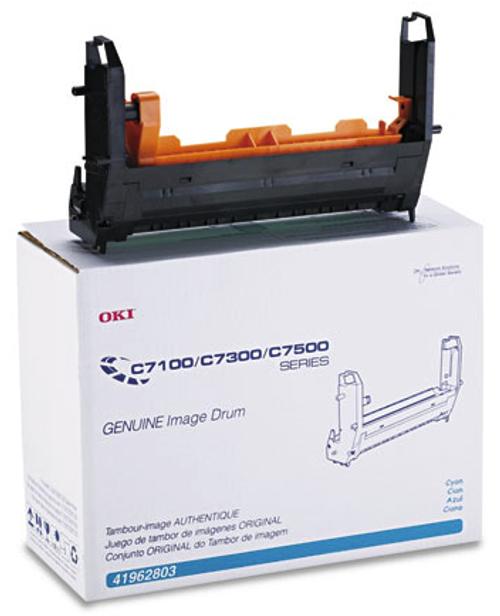 Original Okidata 41962803 Image Drum for C7100, C7300, C7500 Printers Cyan