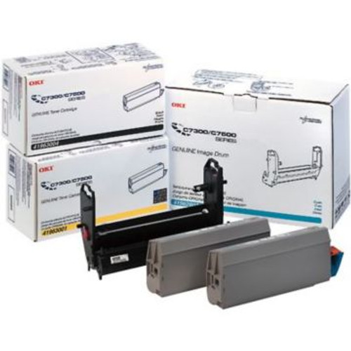 Original OKI 41963001 Type C4 Laser Toner Cartridge for C7300/C7500 Printers  Yellow