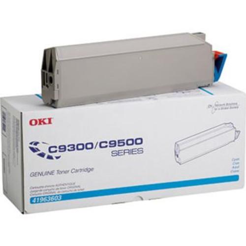 Original OKI 41963603 Type C5 Laser Toner Cartridge for C9300/C9500 Printers  Cyan