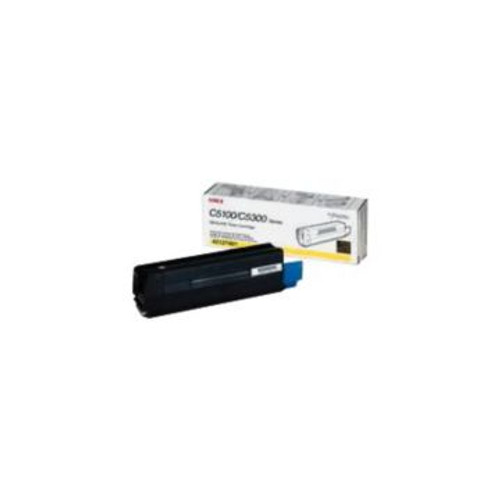 Original OKI 42127401 Yellow High-Yield Laser Toner Cartridge