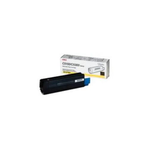 Original OKI 42127401 Yellow High-Yield Laser Toner Cartridge
