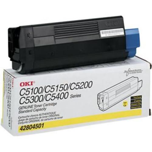 Original OKI Type C6 Toner Cartridge for C5150n/C5100/C5200/C5300/5400 Series  Yellow