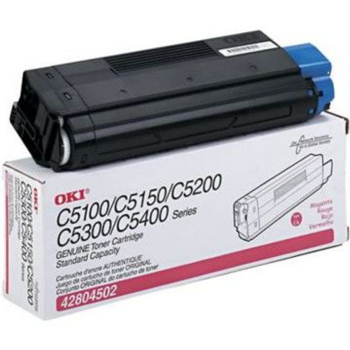 Original OKI Type C6 Toner Cartridge for C5150n/C5100/C5200/C5300/5400 Series  Magenta
