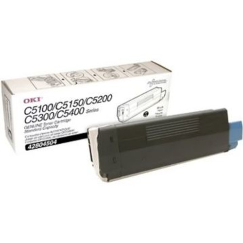 Original OKI Type C6 Toner Cartridge for C5150n/C5100/C5200/C5300/5400 Series  Black