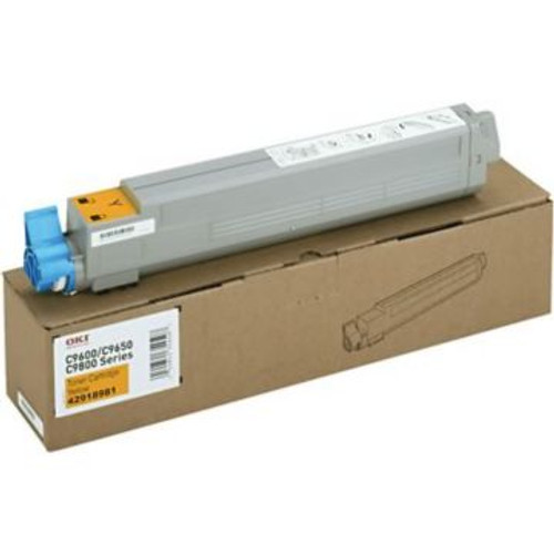 Original OKI 42918981 High-Yield Laser Toner Cartridge for C9650  Yellow