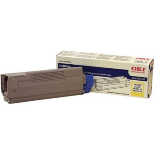 Original OKI 43324417 Toner Cartridge for C6100  Yellow