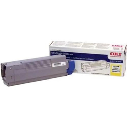 Original OKI 43381901 Laser Toner Cartridge  Yellow