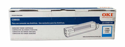 43487735   Original Okidata C8800 Toner Cartridge - Cyan