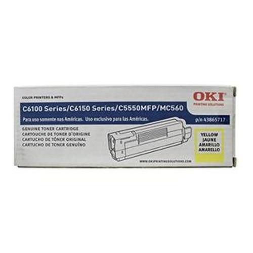 Original OKI 43865717 Laser Toner Cartridge for C6150  Yellow