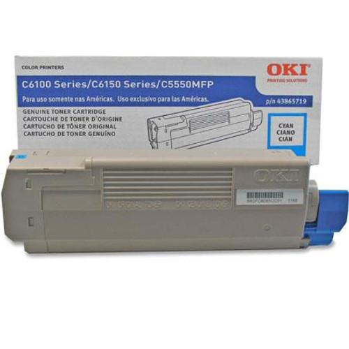 Original OKI 43865719 Laser Toner Cartridge for C6150  Cyan