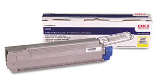 Original OKI OKIDATA C830 Yellow Toner Cartridge 44059109