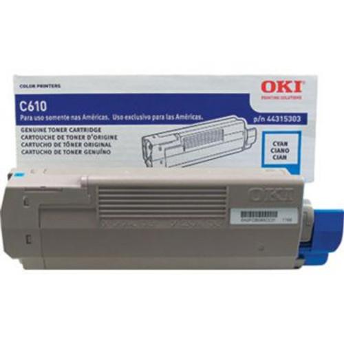 Original OKI 44315303 Laser Toner Cartridge  Cyan