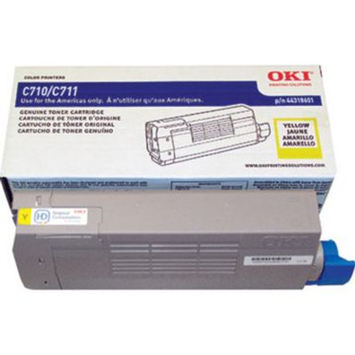 Original OKI 44318601 Laser Toner Cartridge  Yellow