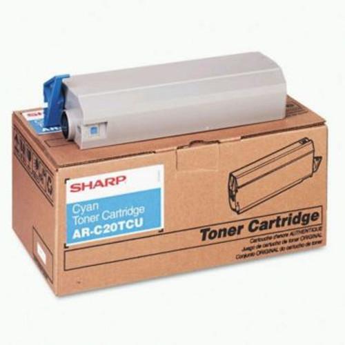 Original Sharp Cyan Toner Cartridge ARC20TCU, High Yield