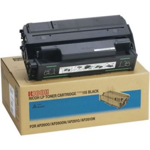 Original Ricoh LP Toner Cartridge Type 115 for AP2600, AP2600N, AP2610, AP2610N  Black