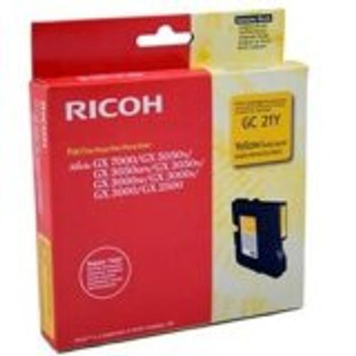 Original Ricoh 405535 Print Cartridge for GX3000, 3050N, 5050N  Yellow