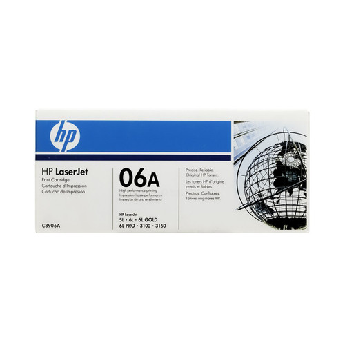 HP 06A C3906A Black LaserJet Toner Cartridge