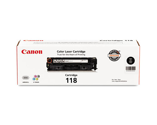 Original Canon 118 Black Laser Toner Cartridge 2662B001AA