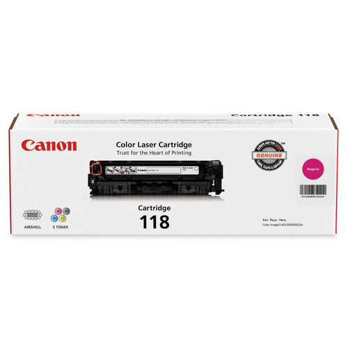 Original Canon 118 Magenta Laser Toner Cartridge 2660B001AA