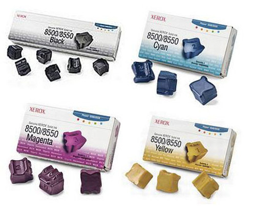Phaser 8500 | 108R00669 108R00670 108R00671 108R00672 | Original Xerox Ink Cartridge Set – Black, Color