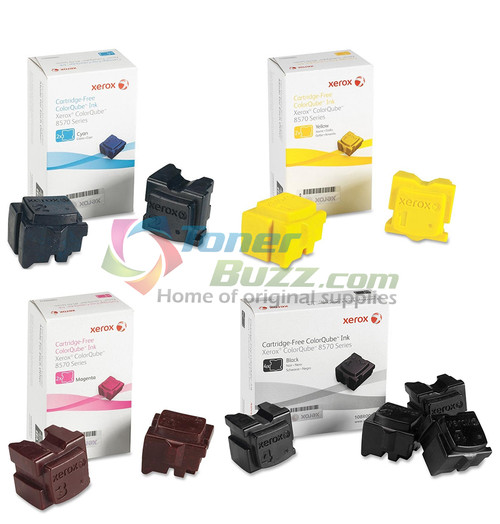 Genuine Xerox ColorQube 8570 8580 Solid INK Set 108R00926 108R00927 108R00928 108R00930 for Phaser ColorQube 8570 8580 Ink Sticks 4-Pack