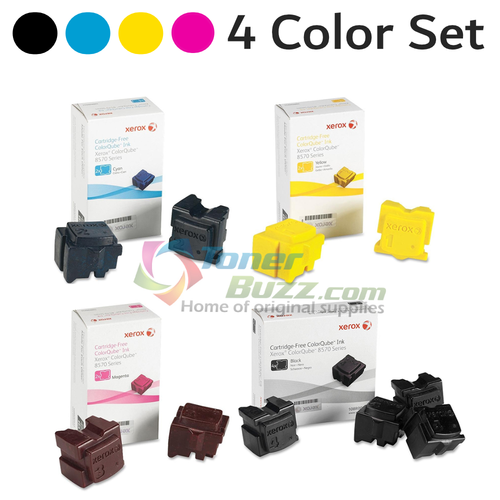 Original Xerox 108R00926 108R00927 108R00928 108R00930 for Phaser ColorQube 8570 8580 Ink Sticks 4-Pack