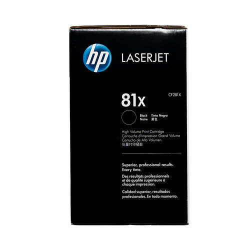 CF281X | HP 81X | Original HP LaserJet High-Yield Toner Cartridge - Black