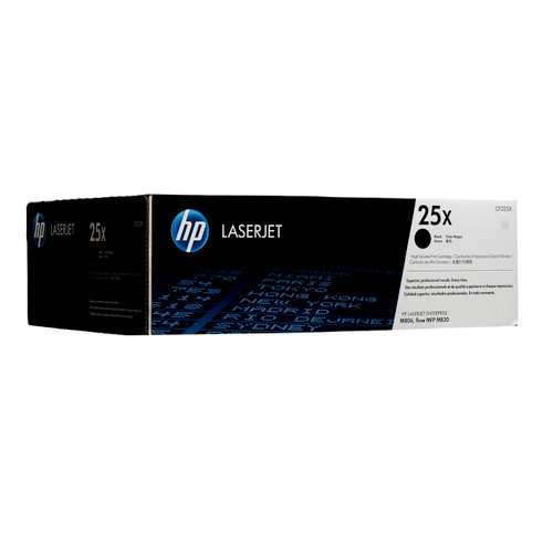Original HP 25X CF325X High-Yield Black LaserJet Toner Cartridge