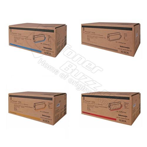 Original Xerox Phaser 1235 Black Cyan Magenta Yellow Toner Cartridge 4-Pack 006R90293, 006R90294, 006R90295, 006R90296