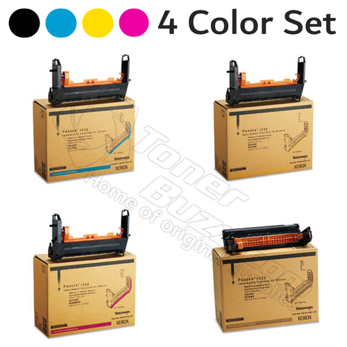 Original Xerox Phaser 1235 Black Cyan Magenta Yellow Drum Cartridge 4-Pack 013R90132 013R90133 013R90134 013R90135