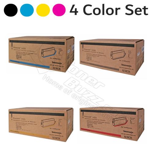 Original Xerox Phaser 1235 High Capacity Black Cyan Magenta Yellow Toner Cartridge 4 Pack 006R90303 006R90304 006R90305 006R90306