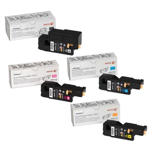 Phaser 6000   106R01627 106R01628 106R01629 106R01630   Original Xerox Toner Cartridge Set – Black, Color