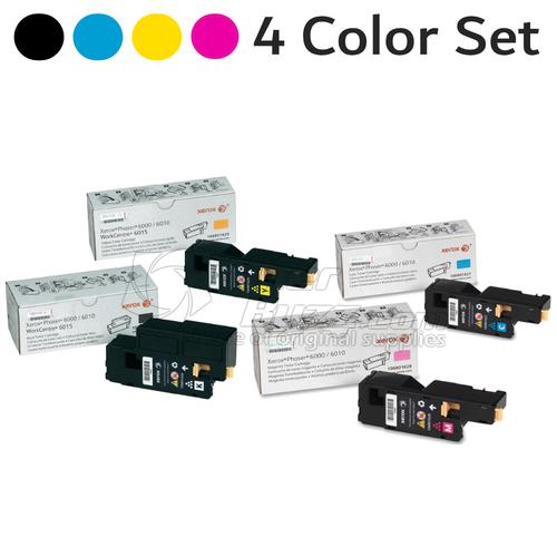Original Xerox Phaser 6000 Black Cyan Magenta Yellow Toner Cartridge 4-Pack 106R01627 106R01628 106R01629 106R01630