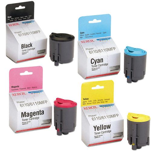 Phaser 6110   106R01271 106R01272 106R01273 106R01274   Original Xerox Toner Cartridge Set – Black, Color