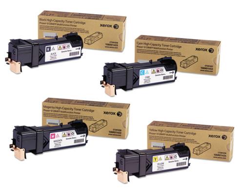 Phaser 6128   106R01452 106R01453 106R01454 106R01455   Original Xerox Toner Cartridge Set – Black, Color
