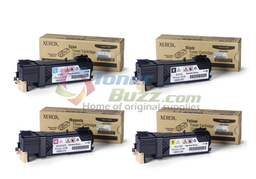 Original Xerox Phaser 6130 Black Cyan Magenta Yellow Toner Cartridge 4-Pack 106R01278 106R01279 106R01280 106R01281