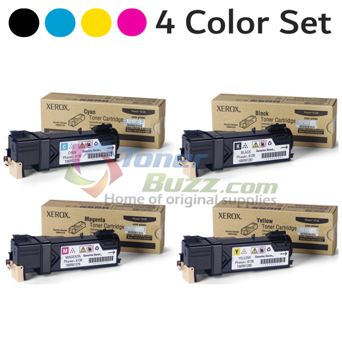 Original Xerox Phaser 6130 Black Cyan Magenta Yellow Toner Cartridge 4-Pack 106R01278 106R01279 106R01280 106R01281