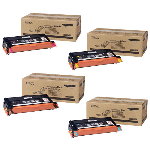 Phaser 6180   113R00719 113R00720 113R00721 113R00722   Original Xerox Toner Cartridge Set – Black, Color
