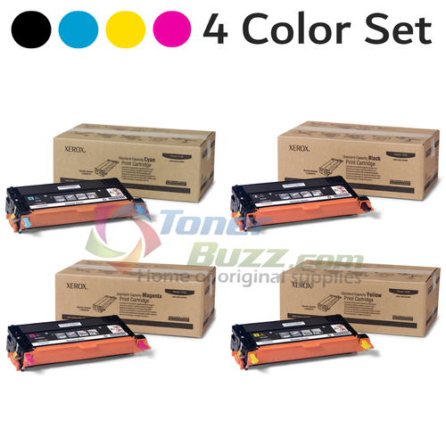 Original Xerox Phaser 6180 Black Cyan Magenta Yellow Toner Cartridge 4-Pack 113R00719 113R00720 113R00721 113R00722