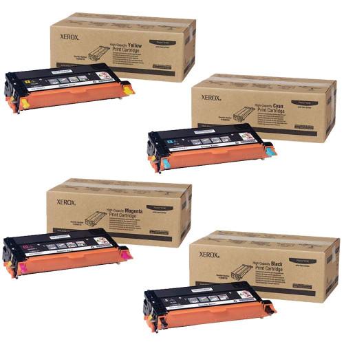 Phaser 6180HC | 113R00723 113R00724 113R00725 113R00726 | Original Xerox High-Yield Toner Cartridge Set – Black, Color