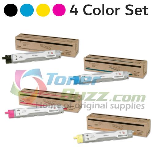 Original Xerox Phaser 6200 Black Cyan Magenta Yellow Toner Cartridge 4 Pack 016-2001-00 016-2002-00 016-2003-00 016-2004-00