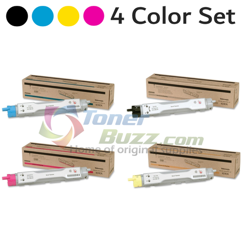 Original Xerox Phaser 6200 Black Cyan Magenta Yellow High Capacity Toner Cartridge 4-Pack 016-2005-00 016-2006-00 016-2007-00 016-2008-00
