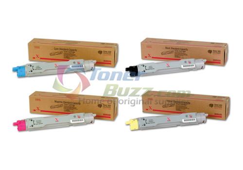 Original Xerox Phaser 6250 Black Cyan Magenta Yellow Toner Cartridge 4 Pack 106R00668 106R00669 106R00670 106R00671