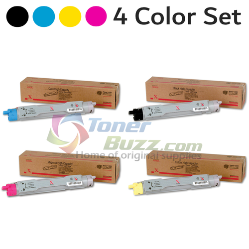 Original Xerox Phaser 6250 Black Cyan Magenta Yellow High-Yield Toner Cartridge 4 Pack 106R00672 106R00673 106R00674 106R00675